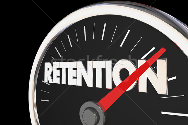 Retention Level Rising Improvement Speedometer 3d Illustration Stock photo © iqoncept