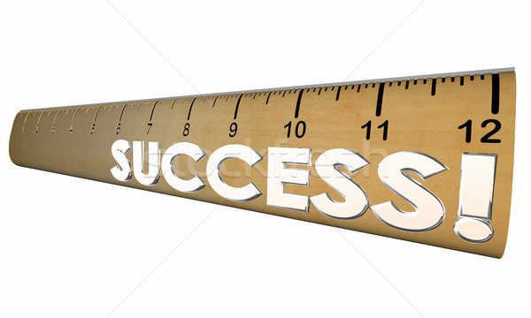 Success Mesasure Good Performance Ruler 3d Illustration Stock photo © iqoncept