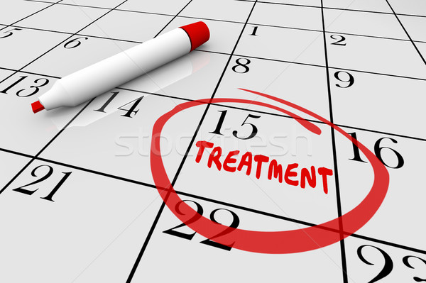 Treatment Medical Health Care Appointment Calendar 3d Illustrati Stock photo © iqoncept