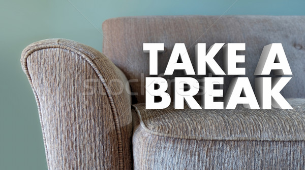 Take a Break Couch Leisure Relax Stop Working 3d Illustration Stock photo © iqoncept