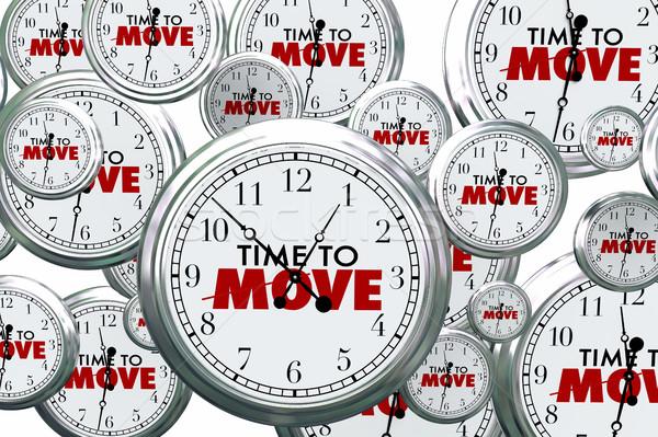 ストックフォト: 時間 · 移動 · クロック · 飛行 · アクション