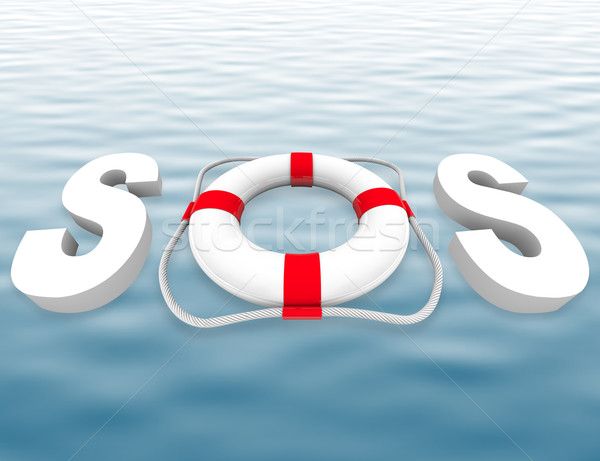 SOS - Life Preserver on Water Surface Stock photo © iqoncept