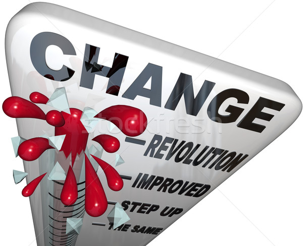 Change Thermometer Improvement and Successful Growth Stock photo © iqoncept