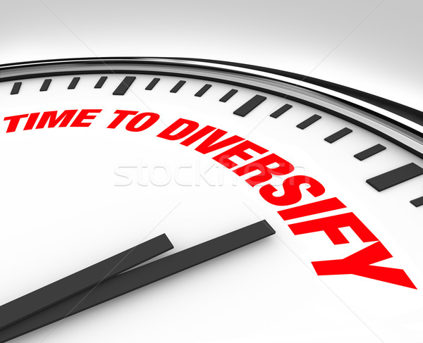 Time to Diversify Clock Manage Investment Risk Stock photo © iqoncept