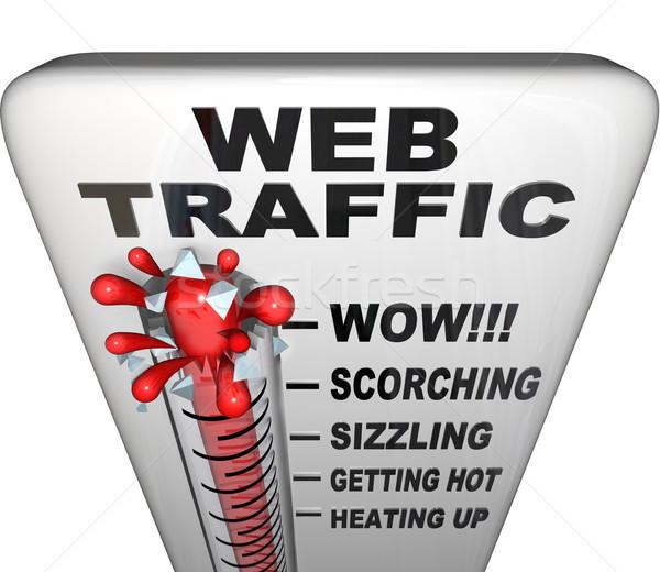 Teia tráfego termômetro popularidade palavras quente Foto stock © iqoncept