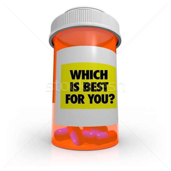 Um o melhor laranja prescrição garrafa Foto stock © iqoncept
