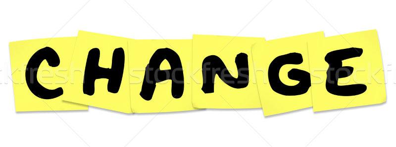 Stok fotoğraf: Değiştirmek · kelime · sarı · hatırlatma