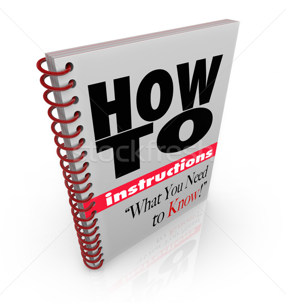 Instruction Book How To Do it Yourself Manual Stock photo © iqoncept