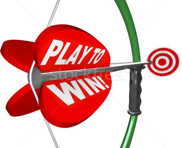 Play to Win Determination Resolve Bow Arrow Target Stock photo © iqoncept