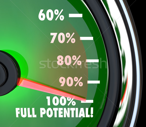 Reaching Full Potential Speedometer Tracking Goal Stock photo © iqoncept