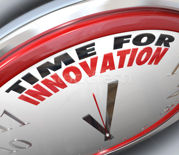 Time for Innovation Clock Need for Change and Ideas Stock photo © iqoncept