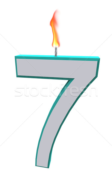 Number Seven Candle Stock photo © iqoncept