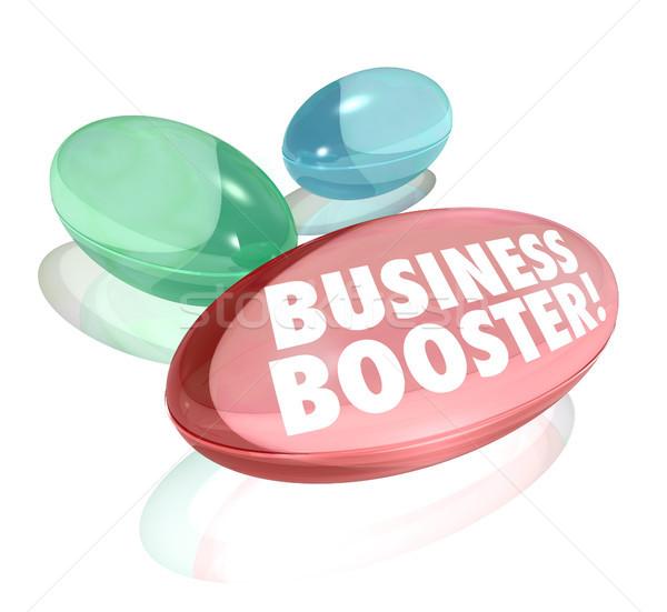 Negócio intensificador vitaminas crescimento de vendas sucesso Foto stock © iqoncept