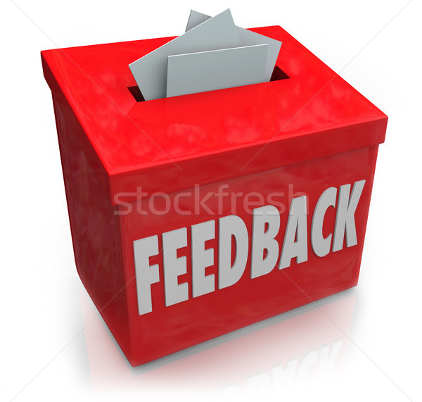 Feedback Suggestion Box Collecting Thoughts Ideas Stock photo © iqoncept