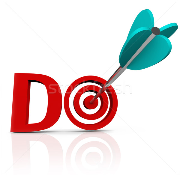 Do Arrow in 3D Word Take Action Go Forward Stock photo © iqoncept