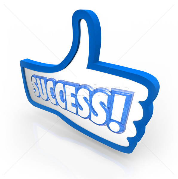 Success Word Thumb's Up Like Approval Feedback Rating Stock photo © iqoncept