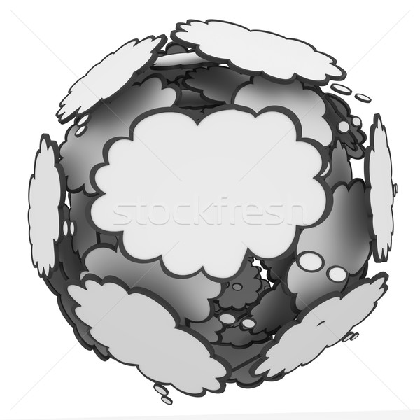 Thought Cloud Sphere Ideas Creativity Imagination Stock photo © iqoncept