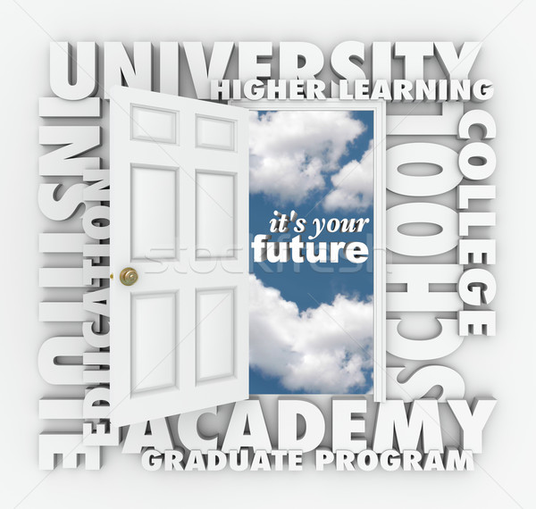 University College Words Open Door to Your Future  Stock photo © iqoncept