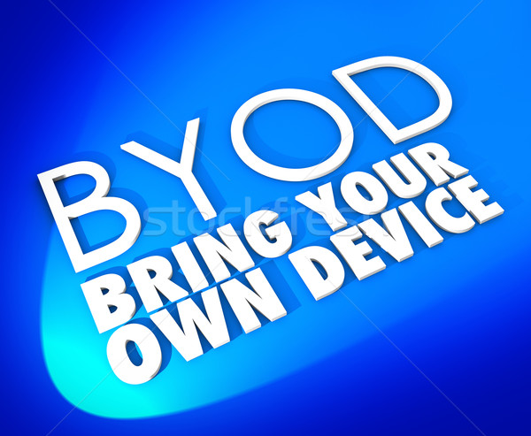 Bring Your Own Device BYOD Blue Word Background Stock photo © iqoncept
