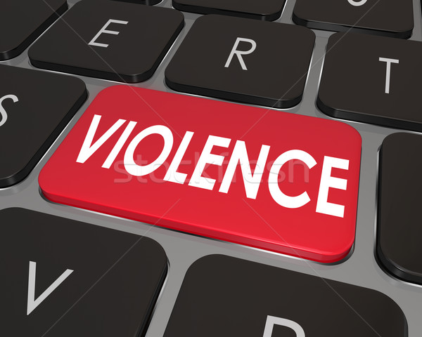 Violence Red Computer Keyboard Key Button Online Danger Stock photo © iqoncept