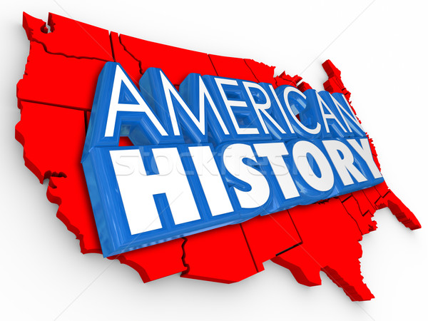 American History 3d Words USA Map Learning United States Educait Stock photo © iqoncept