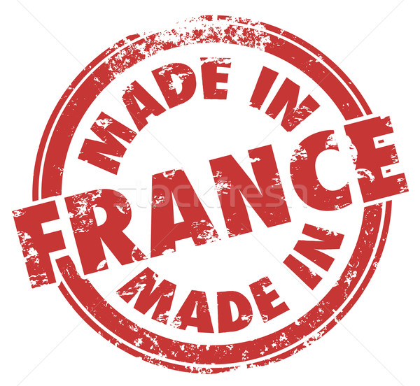 Made in France Stamp Red Round Ink Country Product Pride Stock photo © iqoncept