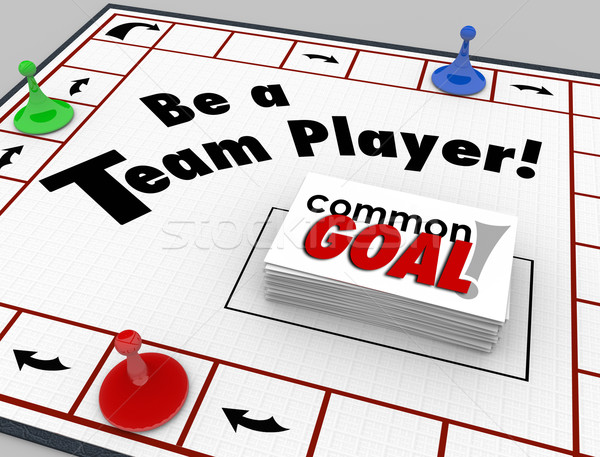 Be a Team Player Board Game Work Toward Common Goal Together Stock photo © iqoncept
