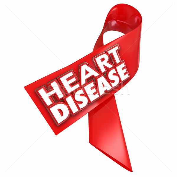 Heart Disease Awareness Ribbon Cure Coronary Condition Illness Stock photo © iqoncept