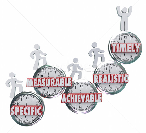 SMART Specific Measurable Achievable Realistic Timely Goals Obje Stock photo © iqoncept