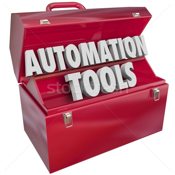 Automation Tools Toolbox Modern Technology Efficiency Productivi Stock photo © iqoncept
