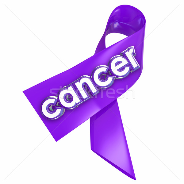 Cancer Ribbon Awareness Hope Cure Medical Reserach Fundraising Stock photo © iqoncept