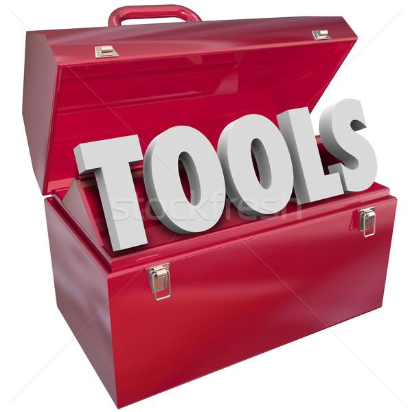 инструменты красный Инструменты 3D слово ресурсы Сток-фото © iqoncept