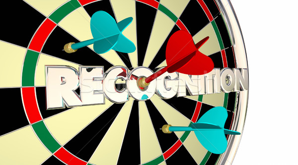 Recognition Appreciation Thanks Honoring Dart Board 3d Illustrat Stock photo © iqoncept