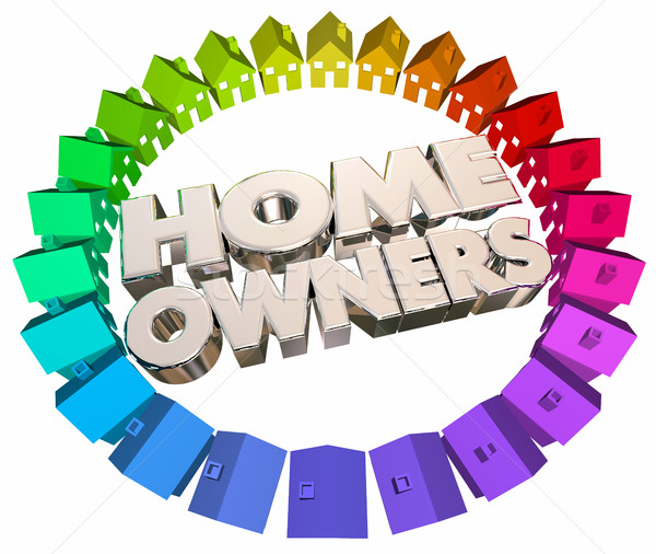 Home Owners Buyers Houses Association Neighborhood 3d Illustrati Stock photo © iqoncept
