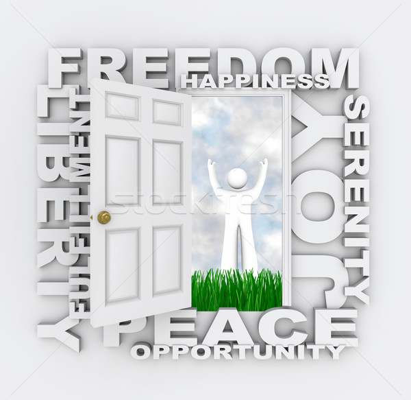 Door to Freedom - Find Happiness Peace and Serenity  Stock photo © iqoncept