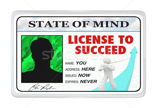 License to Succeed - Permission for a Successful Life Stock photo © iqoncept
