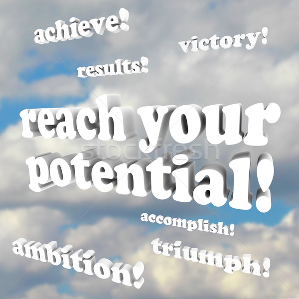 Reach Your Potential - Words of Encouragement Stock photo © iqoncept