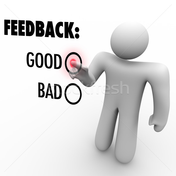 Giving Opinion Feedback Answering Question Touch Screen Stock photo © iqoncept