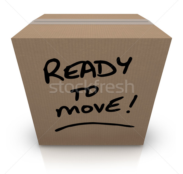 Ready to Move Cardboard Box Moving Relocation Stock photo © iqoncept