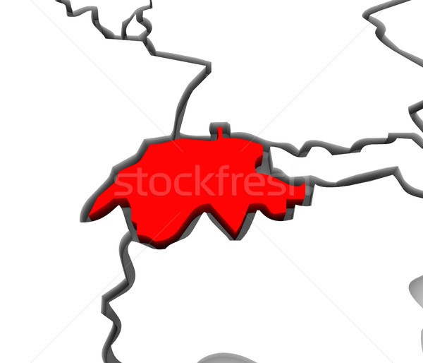 Switzerland 3d Abstract Map Country Stock photo © iqoncept