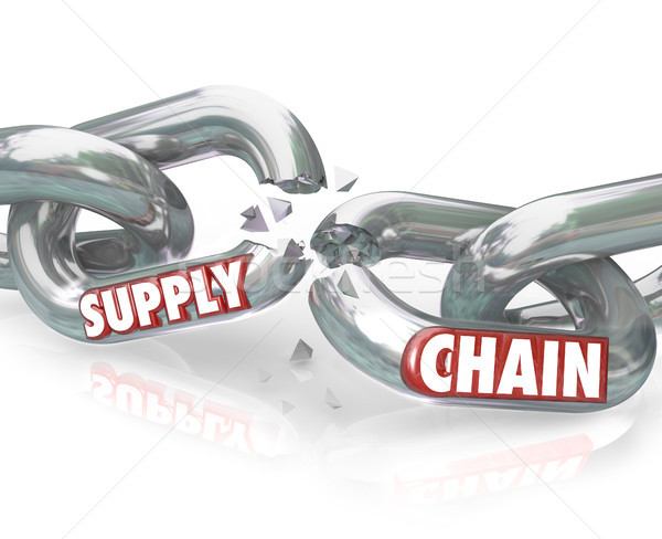 Stock photo: Supply Chain Broken Links Severed Relationships