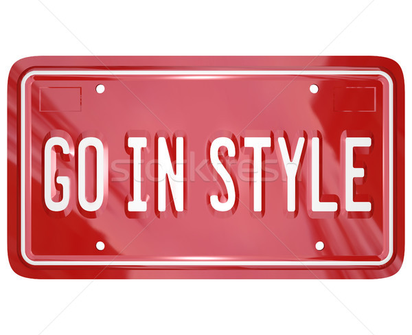 Go In Style Vanity License Plate Car Automobile Vehicle Stock photo © iqoncept