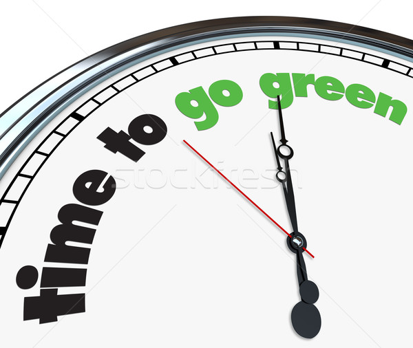 Time to Go Green - Clock Stock photo © iqoncept