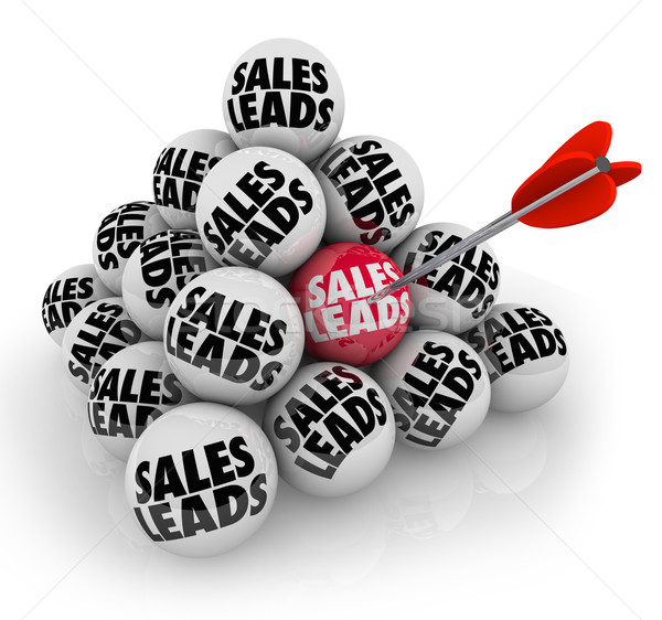 Sales Leads Pyramid Balls New Business Customers Prospects Stock photo © iqoncept
