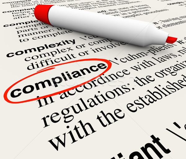 Compliance Word Dictionary Definition Word Meaning Stock photo © iqoncept