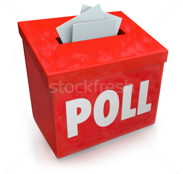 Poll Survey Submission Entry Box Answer Questions Vote Stock photo © iqoncept