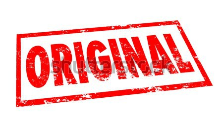 Original Word Stamp Red Ink First Authentic Originality Creativi Stock photo © iqoncept