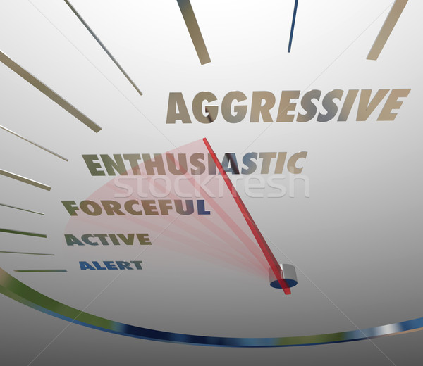 Aggressive Enthusiastic Forceful Active Speedometer Bold Speed Stock photo © iqoncept