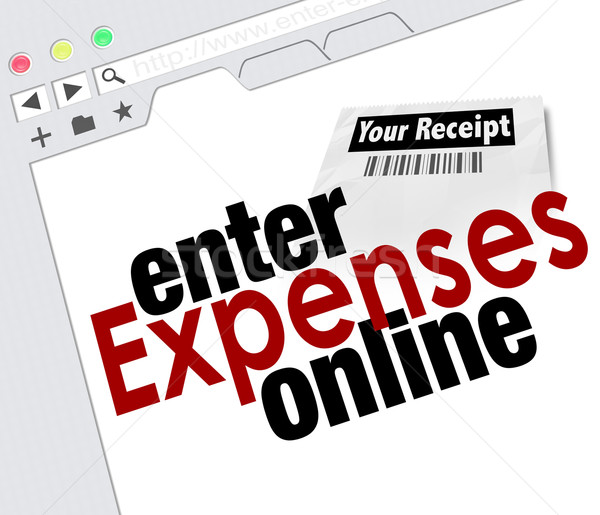 Enter Expense Report Online Receipts Reimbursement Website Stock photo © iqoncept