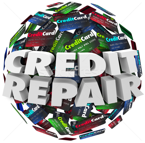 Credit Repair Improve Increase Score Rating Ability Borrow Money Stock photo © iqoncept